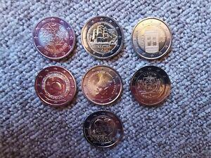 LOT de 7 x 2 euro commémorative 2020 !! NEUVES