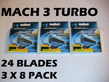 Gillette Mach 3 Turbo - 24 Count (3 x 8 Packs)