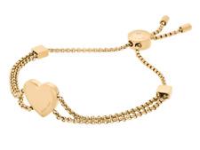 7d0b7cbd8bb6d Michael Kors Mkj6395 Brilliance Gold-tone Heart Charm Slider Bracelet  Mkj6395710