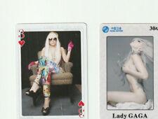 Lady Gaga Rare Phone Card + Bonus Playing Card