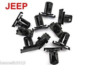 JEEP LIBERTY  Rocker Panel & Bumper Fascia Replacement Black Plastic Clips T34