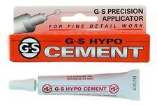 NEW G-S HYPO CEMENT GLUE 9ML Jewellery & Craft Glue Plastic Repairs Clear DIY