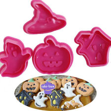 4pcs Halloween Fondant Cake Pastry Cookies Plunger Cutter Mold Decorating Mould