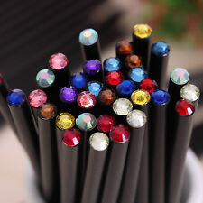 2X Black Rod HB Pencil With Colorful Diamond School Painting Writing Pencil WB