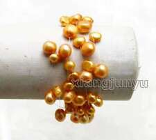 "SALE Orange 6-9mm BAROQUE Natural Pearl 9 strands 7.5"" Starriness Bracelet -b399"