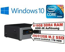 Intel® NUC PC i5 7260U CPU, 8-16GB RAM, HDD oder SSD, Windows 10 Home oder Pro
