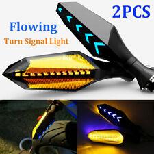2PCS Motorcycle Amber LED Turn Signal Light Flow Type Warning Indicator Lamp