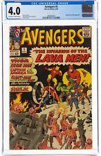 The Avengers #5 (May 1964, Marvel Comics) CGC 4.0 VG   Hulk & Lava Men appearanc