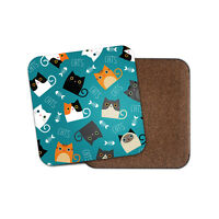 Cute Cats Coaster - Kitten Funny Pet Cool Mum Daughter Auntie Sister Gift #8746
