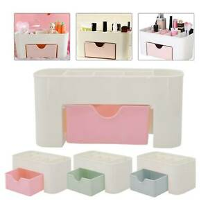 Womens Desk Make Up Brush Holder Organizer Box Drawer Storage Jewellery Case