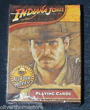Indiana Jones Playing Cards Merchandise All Four Movies NEW NIB