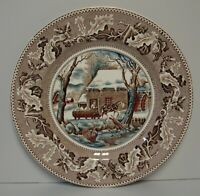 Johnson Brothers HISTORIC AMERICA BROWN Service Plate s FROZEN UP More Available