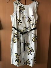 Sophie Gray Wedding Christening Occasion Cotton mix Floral Dress Size 20