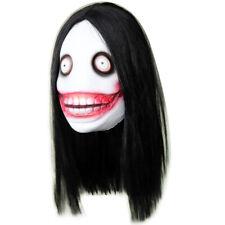 Adult Jeff The Killer Latex Mask & Hair Creepypasta Cosplay Halloween Costume