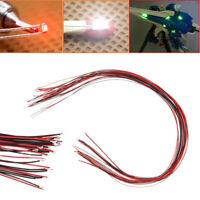 10 Stk 0402 vorgelötete Micro Litz Verdrahtete Leads Rot SMD Led Lampe 200mm