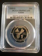 2009S Guam Quarter PCGS PR69DCAM
