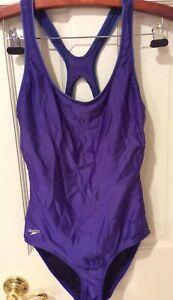 Womens Speedo Swimsuit Bathing Suit One Piece Size 10 Eggplant Purple