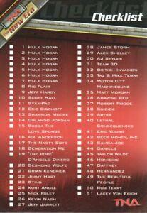 2010 TriStar TNA New Era Wrestling #CL Checklist