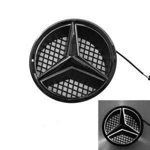 Black Led Car Front Grille Emblem Lights For Mercedes Benz 2008-2013 Illuminated