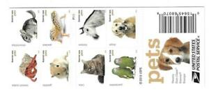 US SCOTT 5106 - 5125a (ONE PANE OF 20) PETS FOREVER STAMPS MNH