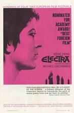 ELECTRA Movie POSTER 27x40 Irene Papas Yannis Fertis Aleka Katselli Theano