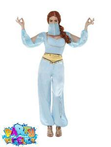 Arabian Princess Jasmine Costume Belly Dancer Adult Ladies Fancy Dress Outfit
