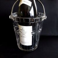 Vintage Wine Cooler Ice Bucket Glass Retro Mid Century Barware Bar Champagne.