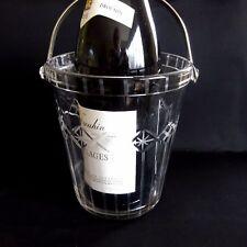 Vintage Wine Cooler Ice Bucket Glass Retro Mid Century Barware Bar Champagne.