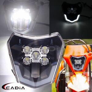 LED Headlight Dirt Bike For XCF EXC Six Days 350 450 500 690 Enduro R Headlamp