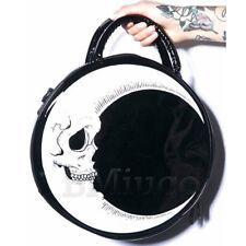 Steampunk Totes Gothic Skull Moon Handbags Lightning Messenger Bag Crossbody Bag