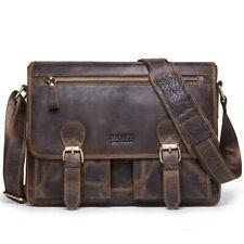Retro Mens NUBUCK Leather Messenger Shoulder Bag Laptop Briefcase Travel Handbag