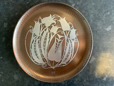 Victoria House Copper And English Pewter Tray Floral Pattern