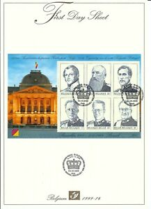 [FDS14] Belgium FDS 1999-14 Royalty First Day Sheet SUPERB