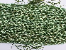 BR51 Grün Zucht Perlen Strang Süßwasser Schmuck Kette 6-7 mm Halskette barock