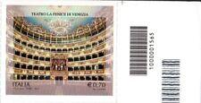 2013 Italia Repubblica Codice a Barre Teatro Fenice non dentellato alto destro