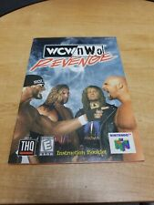 WCW nWo Revenge N64 Instruction Booklet Only