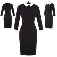 Womens Sexy Shirts Style Long Sleeves Slim Casual Dress OL Business Office Dress