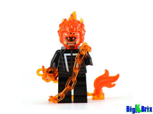 GHOST RIDER Custom Printed on Lego Minifigure! Marvel