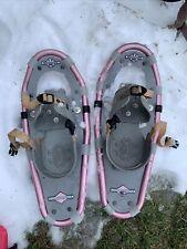 """Ll Bean Winter Walker Youth Girls Women 19"""" Pink Snow Shoes"""
