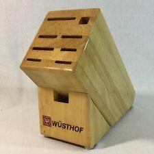 Wusthof Maple Wood Knife Block 9 Slot Germany