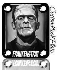Black Frankenstrat Engraved Guitar Neck Plate fits Fender pbass,Telecaster,Strat