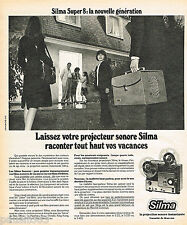 PUBLICITE ADVERTISING 065  1975  SILMA  projecteur sonore SUPER 8