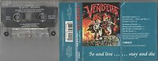 Vendetta Cassette, Go And Live...Stay and Die, 1st Press, Original 1987 Combat