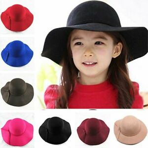 2020 New Vintage Retro Kids Child Boy Girl Hats Fedora polyester Felt Crushable