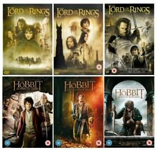 Complete Lord of the Rings & Hobbit Trilogy All 6 DVD Movies Set UK Region 2 PAL
