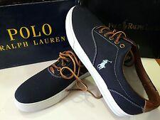 Polo Ralph Lauren Vaughn Navy Canvas/Leather Men's Shoe Size 12 Sneakers