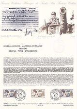 Document Philatélique Timbre 1er Jour : 28/11/ 1987 - Général Leclerc Maréchal