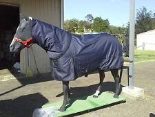 a1200D Navy Blue Winter Horse Rug Detachable Neck Waterproof 5'9
