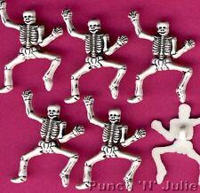DANCING SCHELETRO BIANCO-HALLOWEEN PIRATA PUNK biologia Dress IT UP Pulsanti Craft
