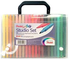 PENTEL Art Studio Set Pennarelli 40 colori, in caso di colorazione ideale per adulti
